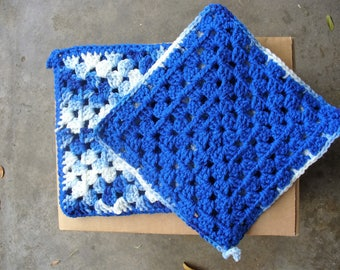 Blue and White Pot Holders