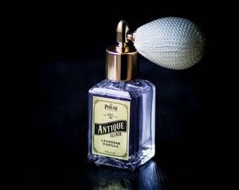 Antique Elixir - Lavender Vanilla Perfume - Atomizer Bottle Spray- 1 0z.