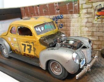 ScaleModel,Junkyard Dog,124Scale,Model Car,Classicwrecks,Rat Rod,Hot Rod,Rusted Junker