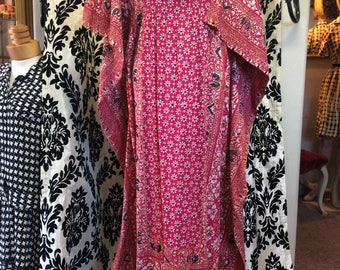 Stunning 70's Thai Batwing Tunic Dress MINT CONDITION