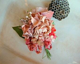 Antique Vintage Velvet Millinery Flowers Posy -V