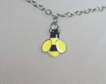 Bumblebee Anklet, Yellow and Black Bee, Honey Bee, Summer Jewelry, Winnie the Pooh, Honey, Pollination, Sandals, Beach Wear