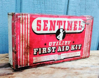Vintage Sentinel Utility First Aid Kit