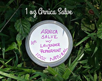 Arnica Salve with Lavender and Peppermint Essential Oils - Reputed Pain Relief - Natural Salves - Salves - Elusive Wolf