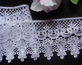 """3.5"""" White Venice Lace Trim - Venise Lace  selling by the yard"""