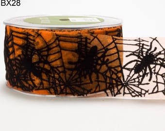 2 Inch Sheer Spider Web Ribbon price for 1 yard