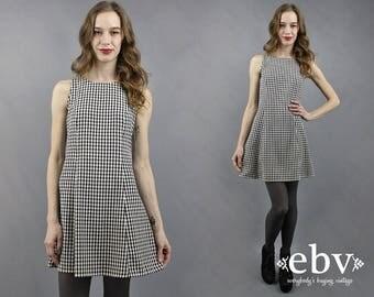 90s Dress Checker Dress Gingham Dress 90s Mini Dress 1990s Dress Summer Dress Lace Up Dress My Michelle Dress 90s Sundress Flirty Dress S
