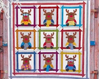 Reindeer Games Quilt Pattern | PDF Quilt Pattern | Quilt Patterns | Christmas Quilt Patterns | Kids Quilts | Christmas | Reindeer | Quilts