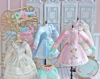 Special Limited - Anniedollz Hand Embroidery Blythe Dress Set