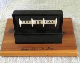 Vintage Santa Rosa, New Mexico Souvenir Perpetual Calendar