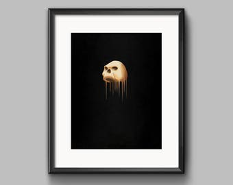 Untitled (Skull) Art Print - painting, dark, skull, surreal