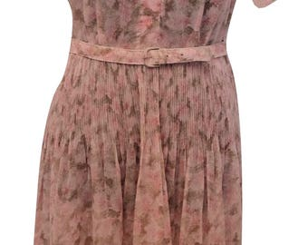 Sheer 1940s Day Dress
