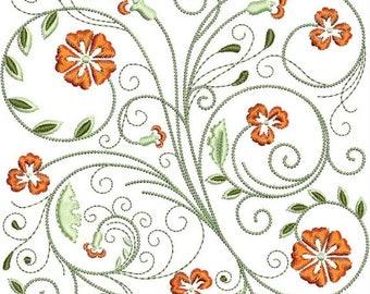 ON SALE FabuFlower Blocks Machine Embroidery Design -  5x7 - floral embroidery, flower embroidery, embroidered flowers, embroidered florals