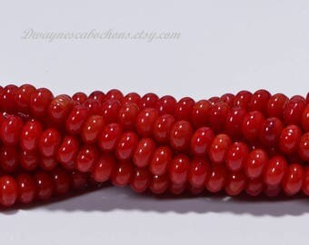 Red Coral 4.4x2.6mm Coral Beads Gemstone Beads Jewelry Making Supplies
