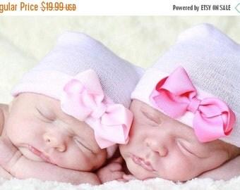 SALE 25% OFF newborn hat, newborn hospital hat with bow, newborn girl, newborn girl hat, hospital newborn hat, newborn hat, baby hat