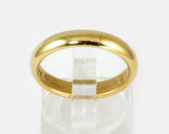 Vintage Tiffany and Co Ladies or Mens Wedding Band, Wedding Ring - 14kt Gold, SZ 8