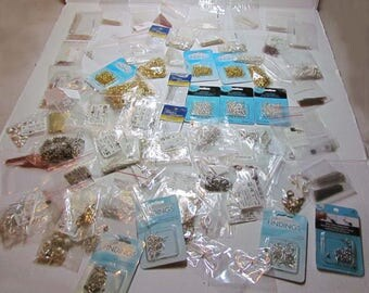 Destash Large Mix of Jewelry Making Supplies Findings 2.13 lbs