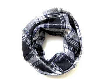 Plaid Scarf, Toddler Scarf, Flannel Scarf, Winter Scarf, Childrens Scarves, Baby Bib Scarf, Infinity Scarf, Under 20 dollars, Ready to Ship