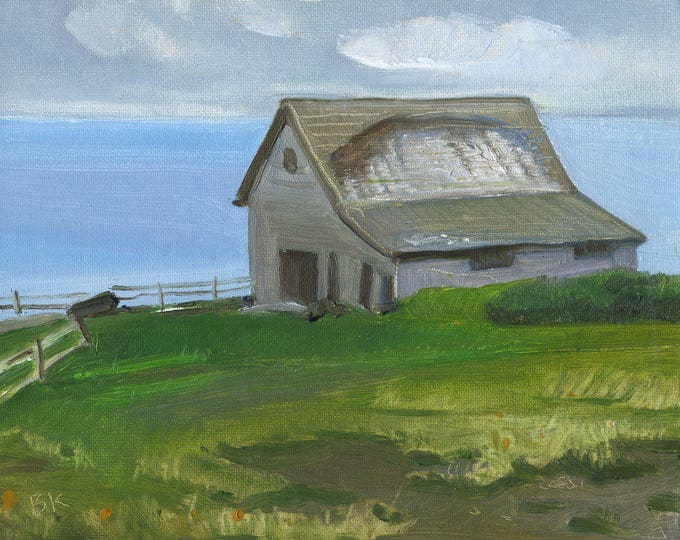 "Listing for Connie ""Barn on the harbor "" Print by B. Kravchenko for SEASTYLE"