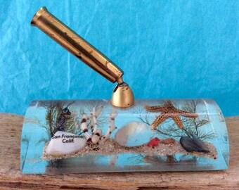 Desk Accessory - Pen Holder - Acrylic Ocean Life - San Francisco Souvenir - Co worker gift - desk organizer - paperweight - desk Decor