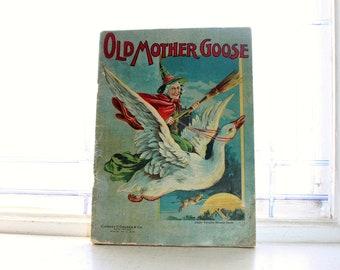 Antique Children's Book Old Mother Goose