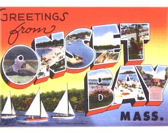 Greetings from Onset Bay Massachusetts Fridge Magnet
