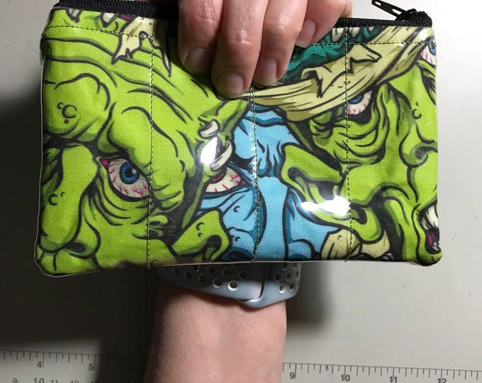 Zippered Pouch - Monster coin purse/change purse