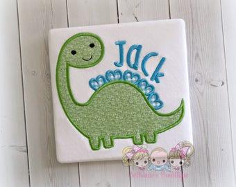 Green dinosaur shirt - boys dino shirt - boys dinosaur shirt - green dino - personalized embroidered dinosaur shirt - green and blue gingham
