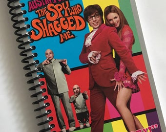 The Spy Who Shagged Me Austin Powers Journal Notebook re-purposed notebook sketchbook Made from an actual Vhs tape