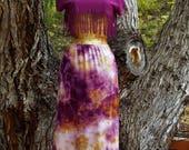 Upcycled skirt, Fairy skiet, Hippie skirt, Boho skirt, Tie dye skirt, Maxi skirt, Beach cover, Vintage Slip, Surf wear