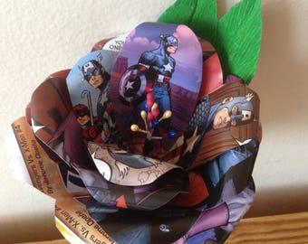 Captain America comic book boutonniere buttonhole.