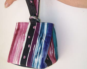 Polished Cotton SQUARE MINI PURSE Box Bag Wristlet Bold Colors Polka Dots Hand Purse Everyday Grab 'n Go Summer Teal Blue Purple Wine Black