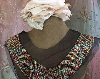 Multi Colored Metallic Beaded Collars