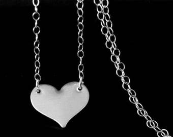 SALE Sterling Silver Celebrity Style Heart Necklace