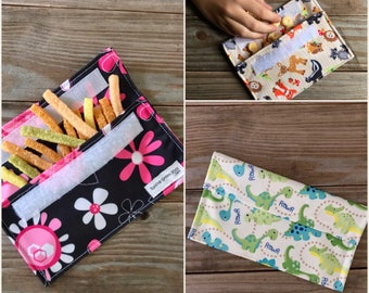 Reusable sandwich bags eco friendly washable cloth and velcro