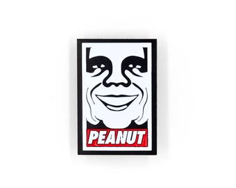 Andre The Giant / Fezzik Peanut Enamel Pin / The Princess Bride Pin / OBEY /Enamel Lapel Pin / Accessories