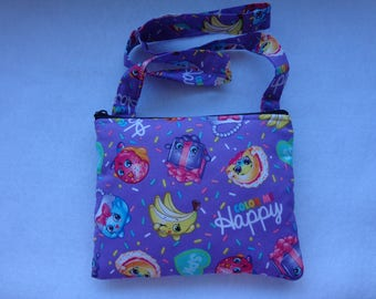 Kid's Crossbody Bag: Shopkins purple