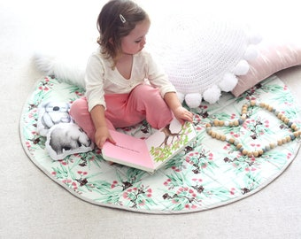 WEEKLY INSTALLMENTS for Vicky. Pink & Mint Eucalyptus Round Play Mat 100cm