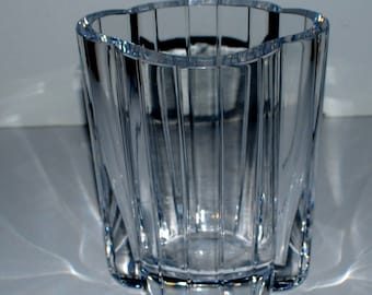 Orrefors by Gunnar Cyren glass vase vintage  glass vase Swedish glass