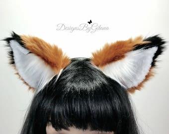 NEW! Realistic Fox Ears Headband- Fox Ears- Cat Ears- Cat Costume- Fox Costume- Furries-Cosplay-Harajuku-Halloween-Fluffly Ears-Birthday