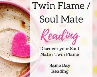Twin Flame / Soul Mate Reading Same Day Email or MP3 Reading - Detailed Reading - Accurate Reading + Free Meditation PDF