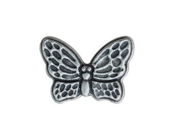 Metal Butterfly Button 20mm x 15mm