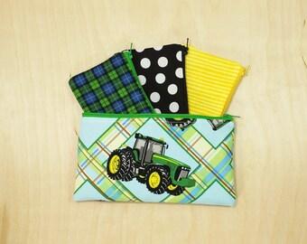 Kids Cash Envelope Wallet, Kids Cash Budget System, Give, Save, Spend -John Deere Tractor- READY to SHIP