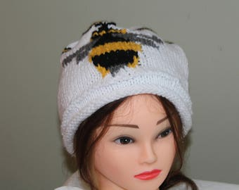 Hand Knit Bumble Bee Hat