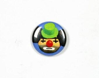 1 Inch Pinback Button Original - Sad Clown