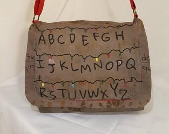 SOLD!!!******     Stranger Things Messenger Bag, Bag, Sci-fi, Tv, Cross Body Bag, Messenger Bag,