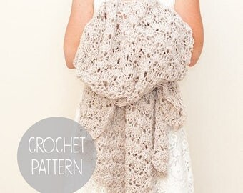FLASH SALE crochet pattern - lace stitch throw blanket - the Summer Bliss Throw Blanket