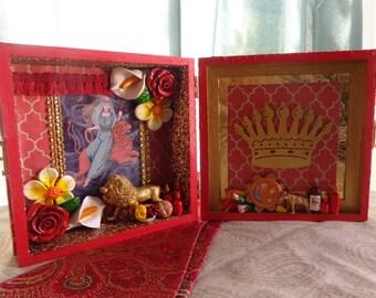 Cybele Box Shrine. Travel Altar. Nicho. Shadow Box. Kybele.