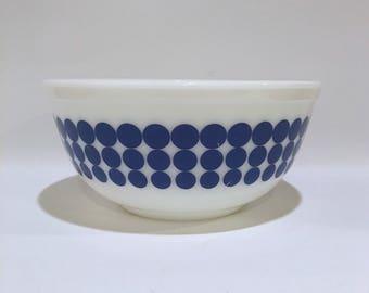 Vintage blue polka dot Pyrex 403