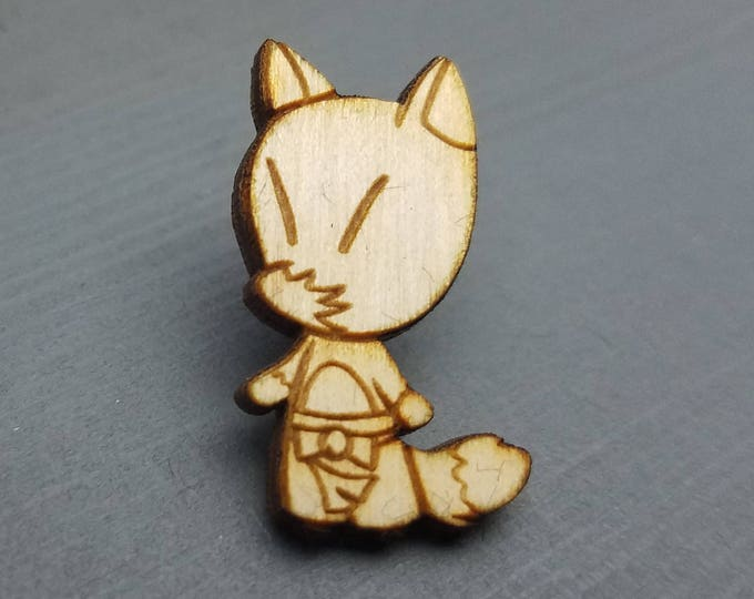 Animal Crossing Redd Pin | Laser Cut Jewelry | Wood Accessories | Wood Pin